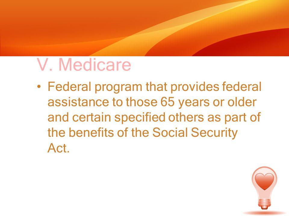 V. Medicare