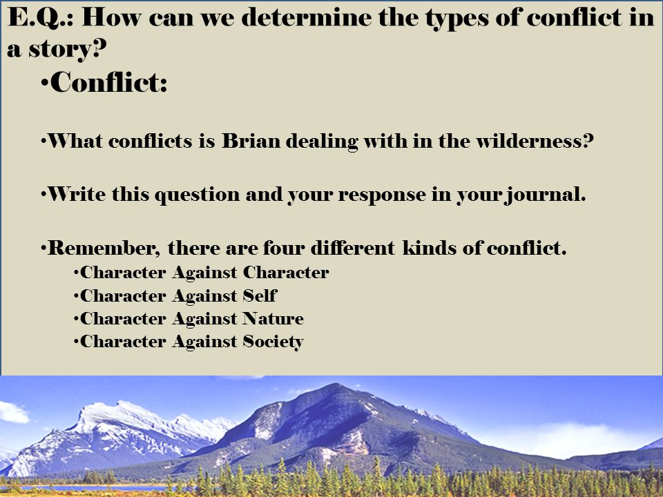 E.Q.: How can we determine the types of conflict in a story