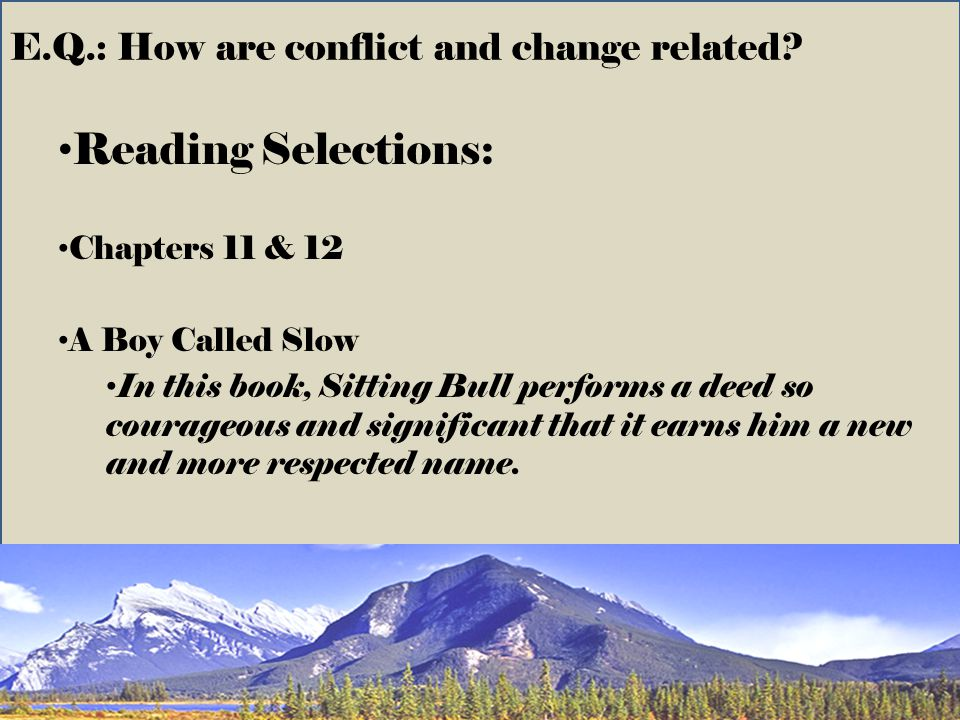 E.Q.: How are conflict and change related