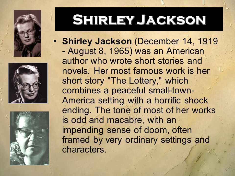a comprehensive analysis of the lottery by shirley jackson This is an extremely thorough, full 2-week unit for the short story the lottery by shirley jackson these resources are focused around common core standards for grade 7, but they are absolutely still relevant for all middle grades students who are reading &quotthe lottery&quot or.