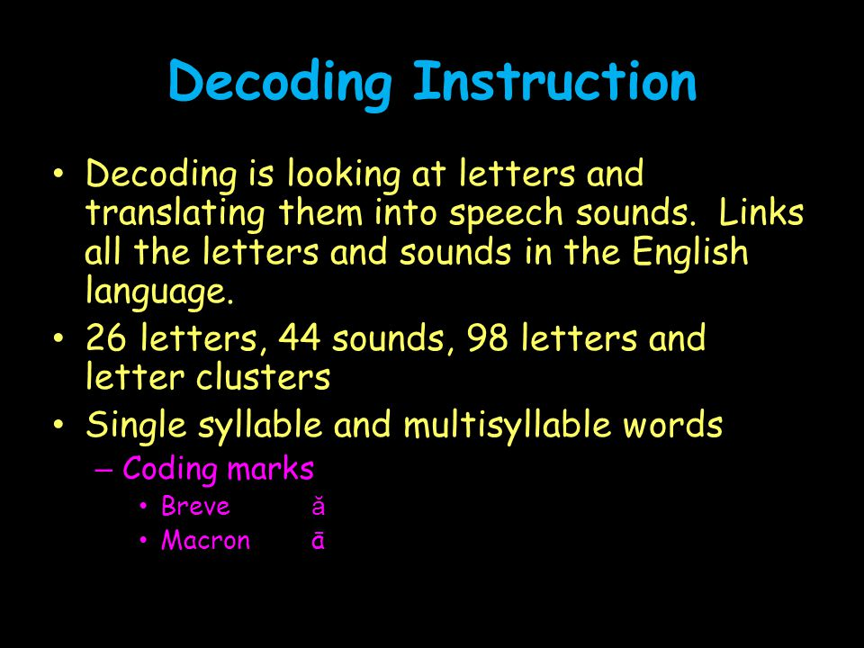 Decoding Instruction