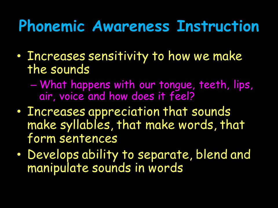 Phonemic Awareness Instruction