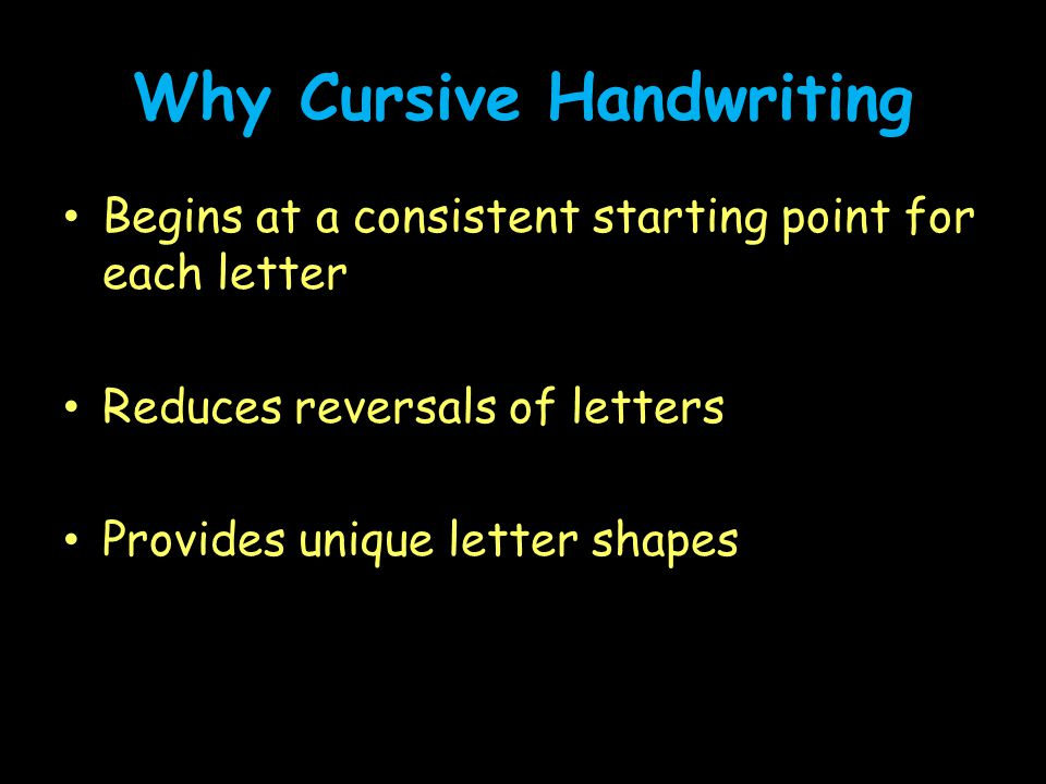 Why Cursive Handwriting