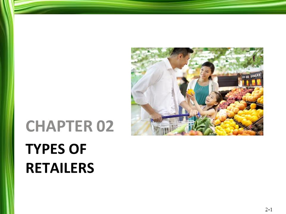 CHAPTER 02 Types of Retailers