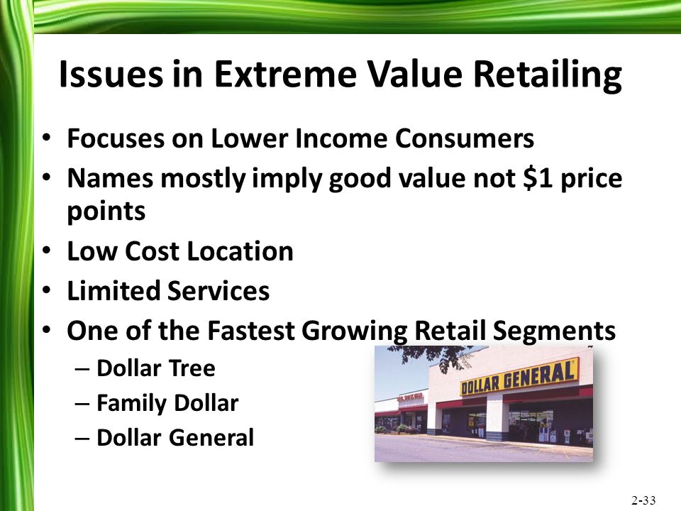 Issues in Extreme Value Retailing