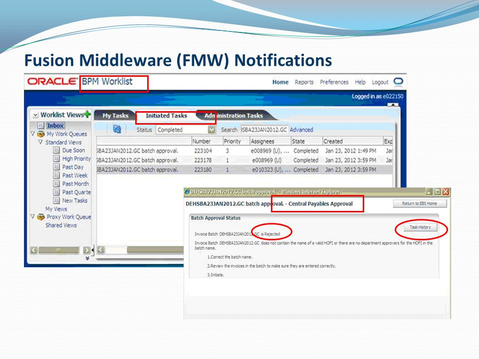 Fusion Middleware (FMW) Notifications