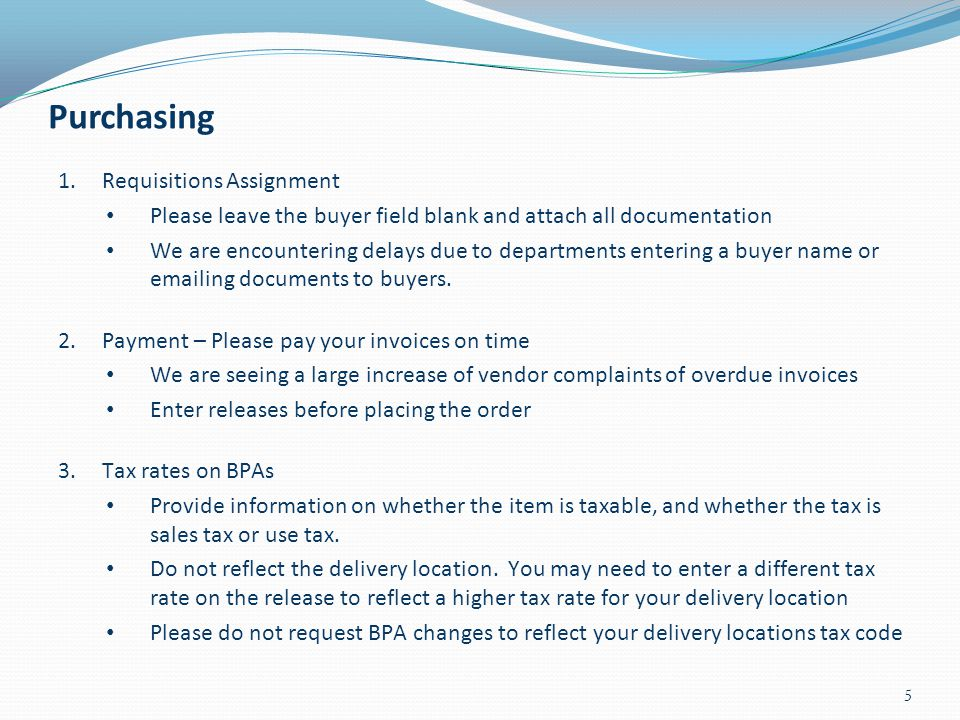 Purchasing Requisitions Assignment
