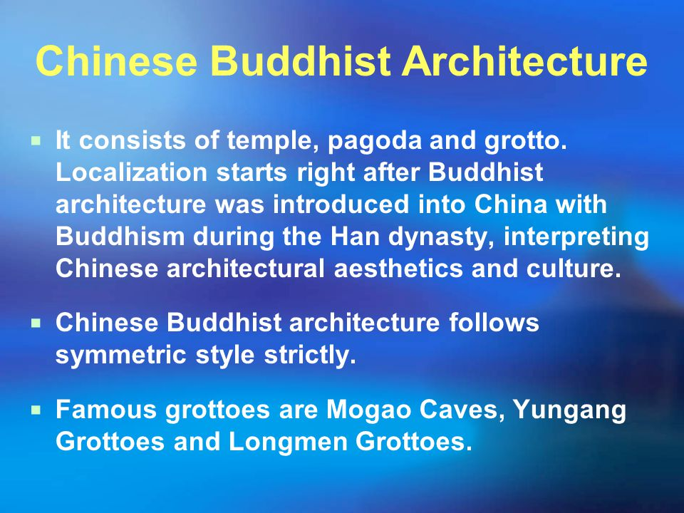 Chinese Buddhist Architecture