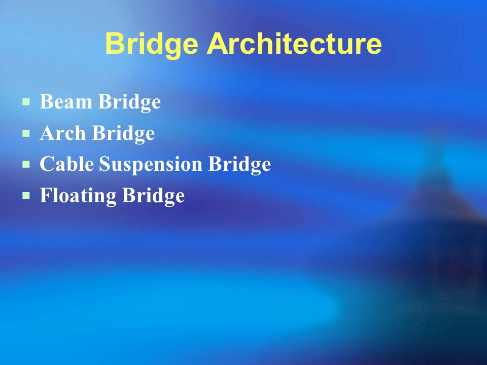 Bridge Architecture Beam Bridge Arch Bridge Cable Suspension Bridge