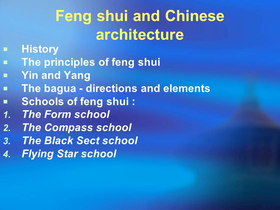Feng shui and Chinese architecture