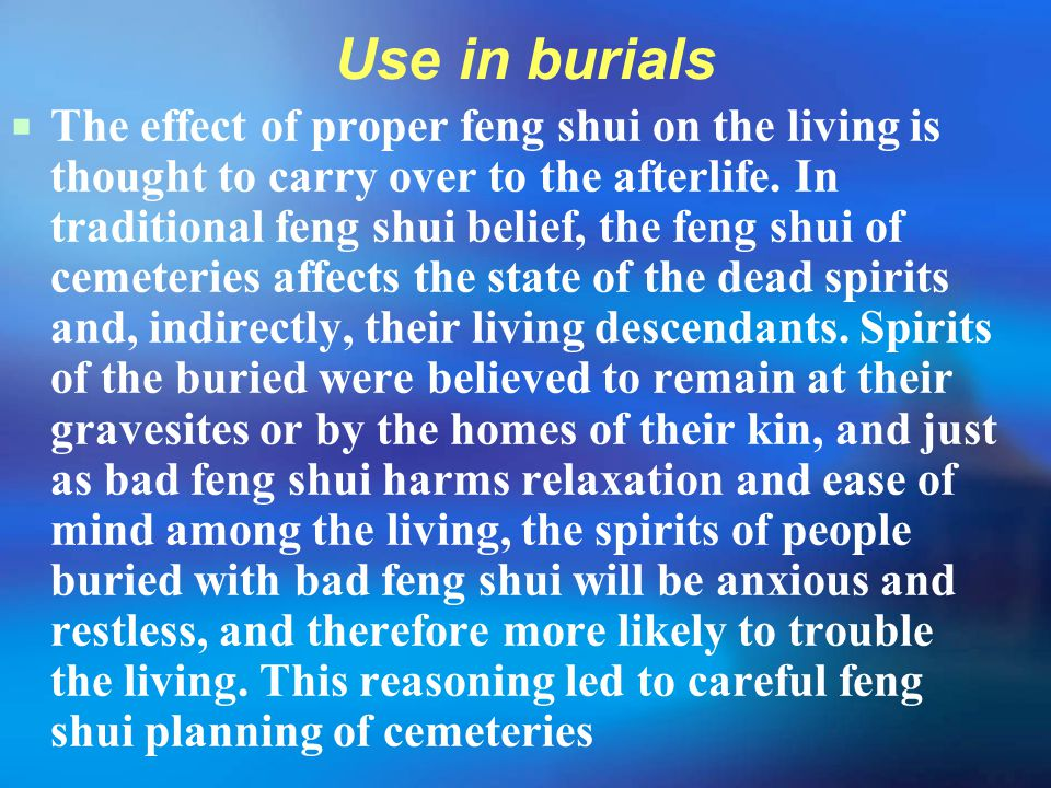 Use in burials