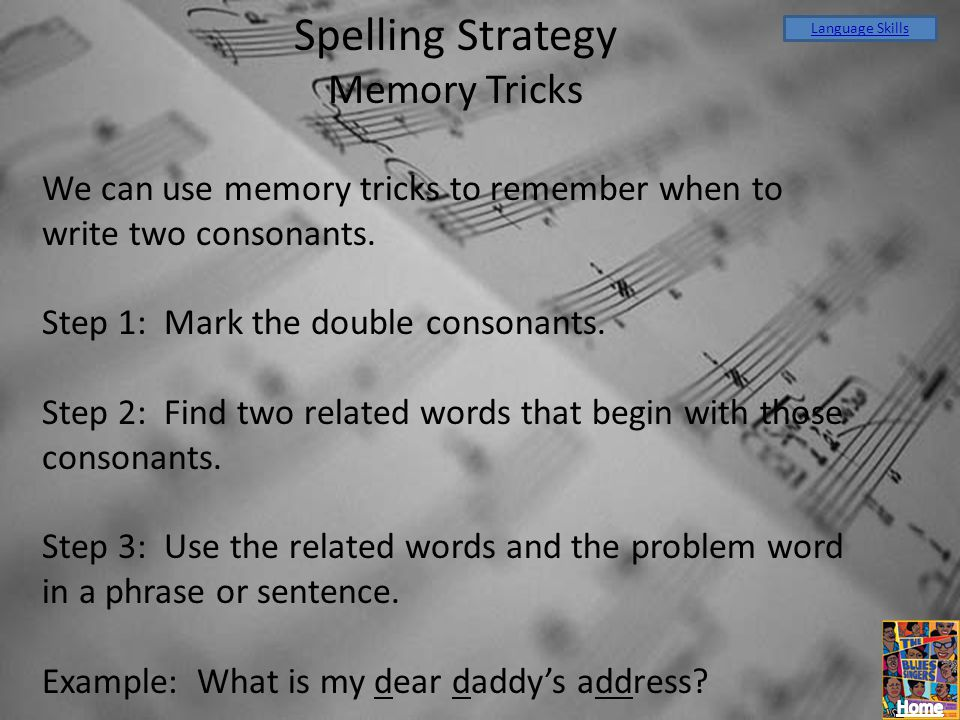 Spelling Strategy Memory Tricks
