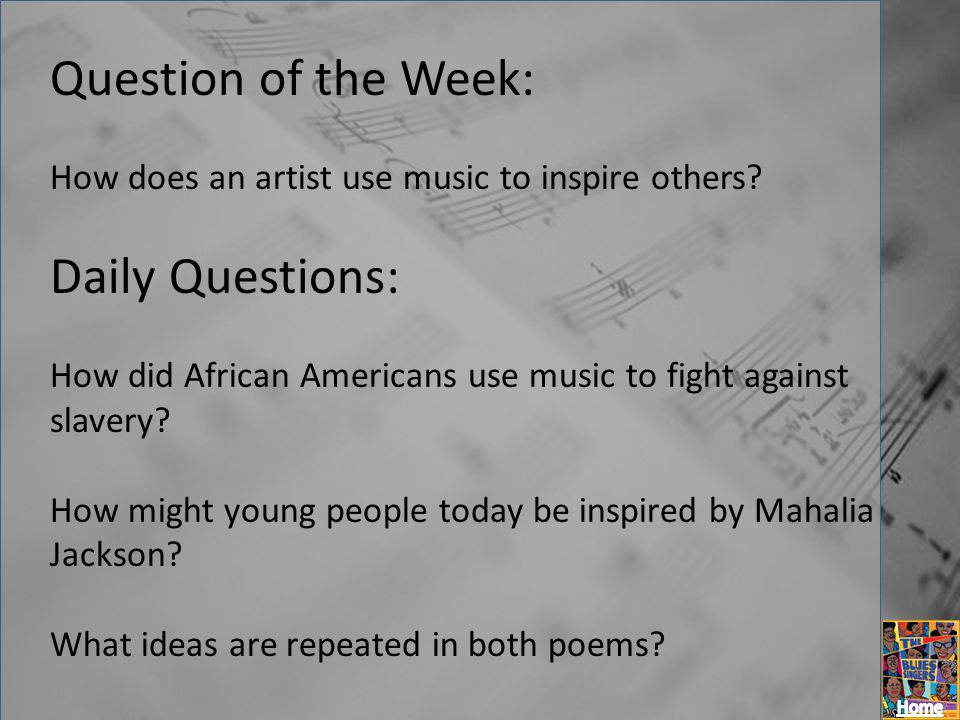 Question of the Week: Daily Questions: