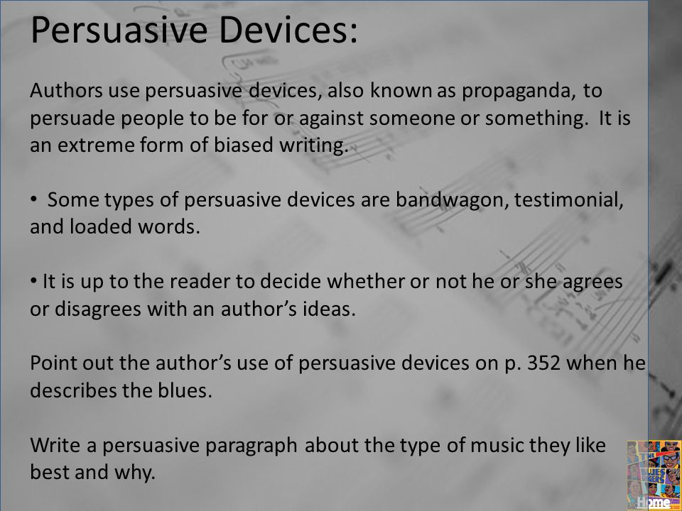 Persuasive Devices: