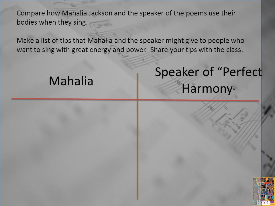 Speaker of Perfect Harmony