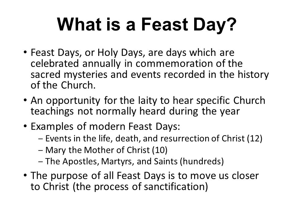 What is a Feast Day