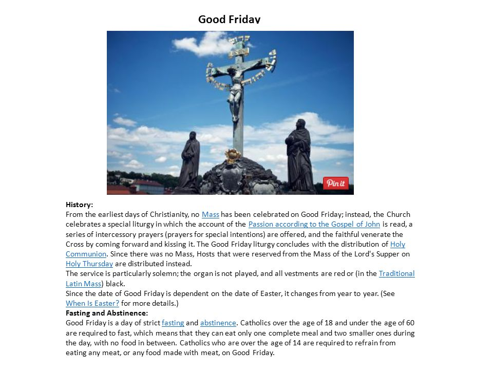 Good Friday History: