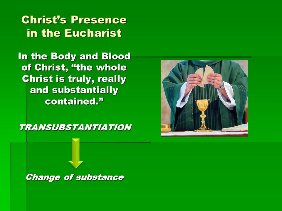 Christ's Presence in the Eucharist