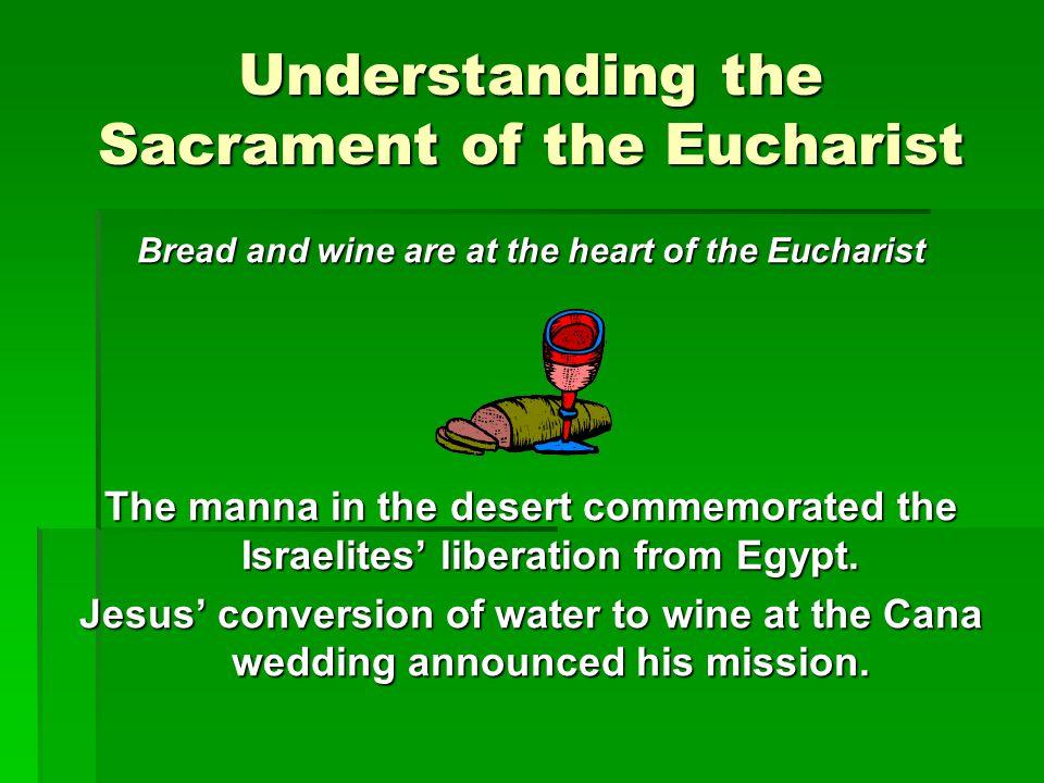 Understanding the Sacrament of the Eucharist