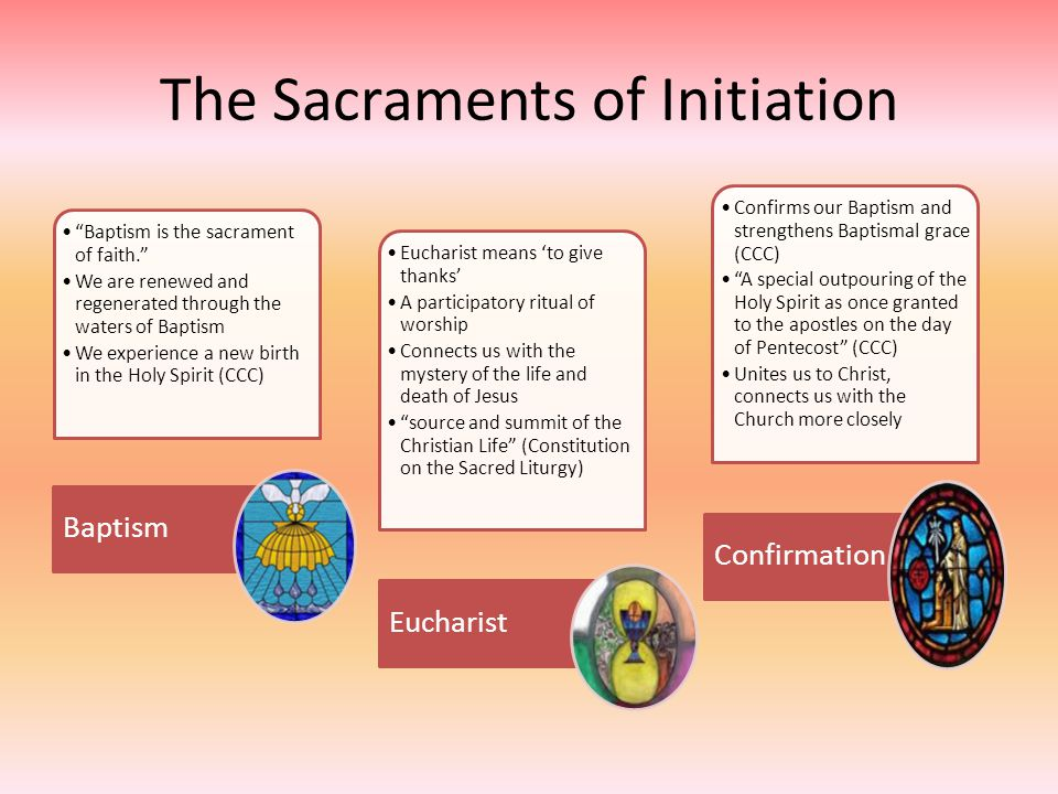 The Sacraments of Initiation