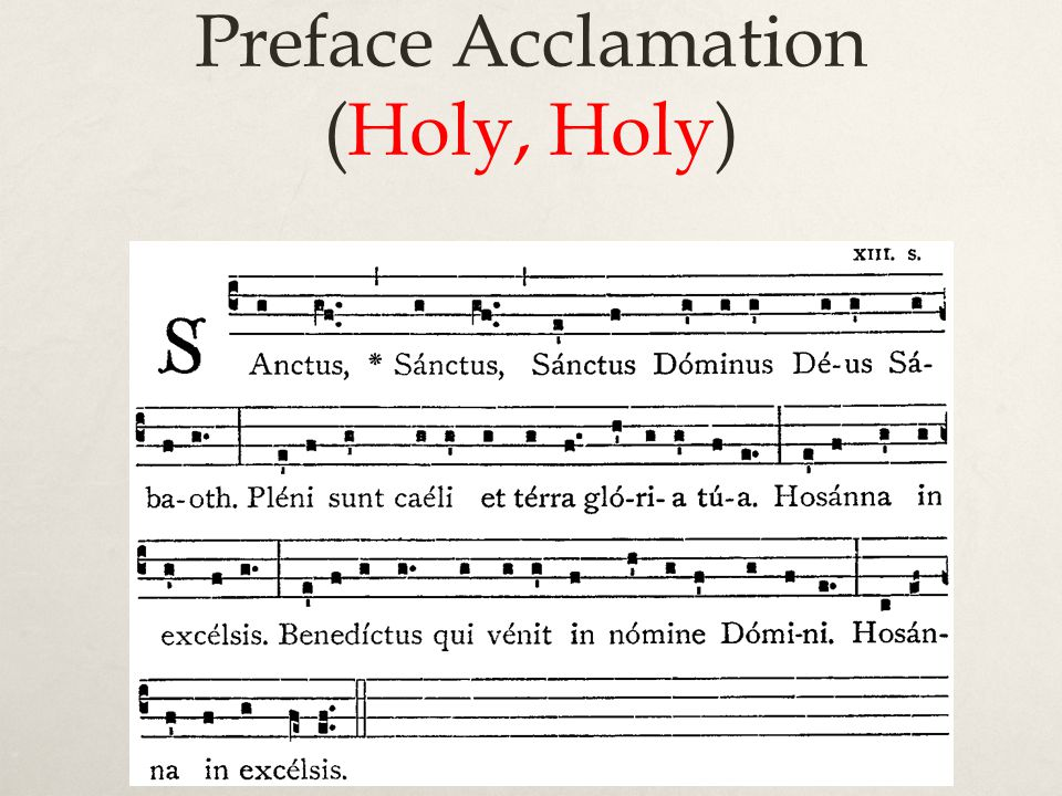 Preface Acclamation (Holy, Holy)