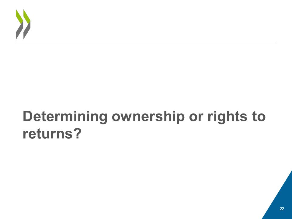 Determining ownership or rights to returns