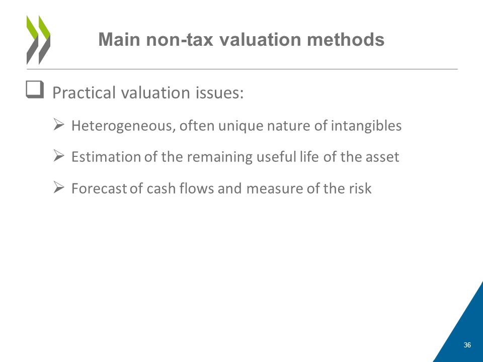 Main non-tax valuation methods