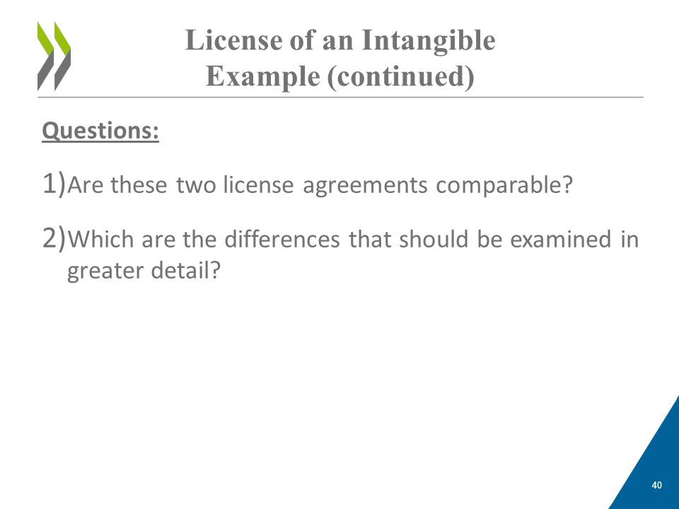 License of an Intangible Example (continued)