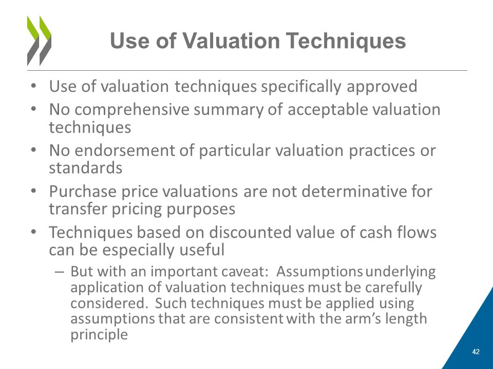 Use of Valuation Techniques