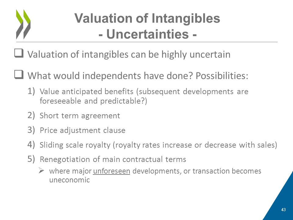 Valuation of Intangibles - Uncertainties -