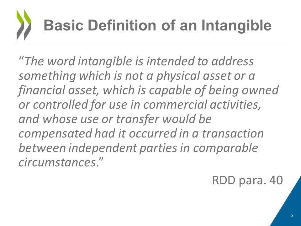 Basic Definition of an Intangible