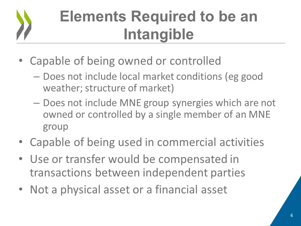 Elements Required to be an Intangible