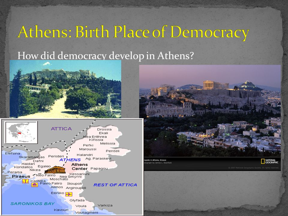 Athens: Birth Place of Democracy