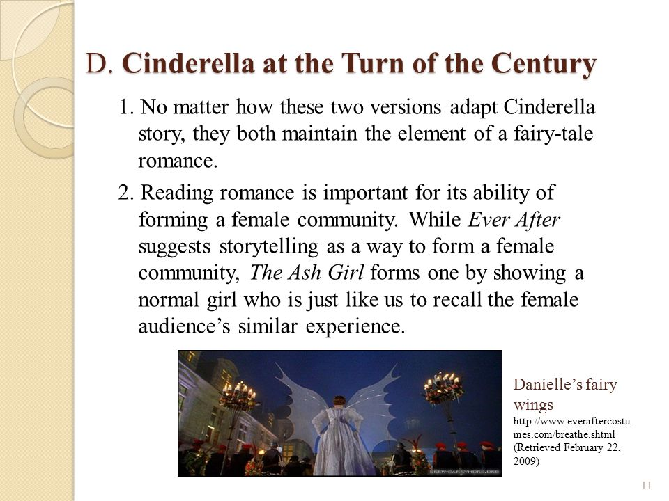 D. Cinderella at the Turn of the Century