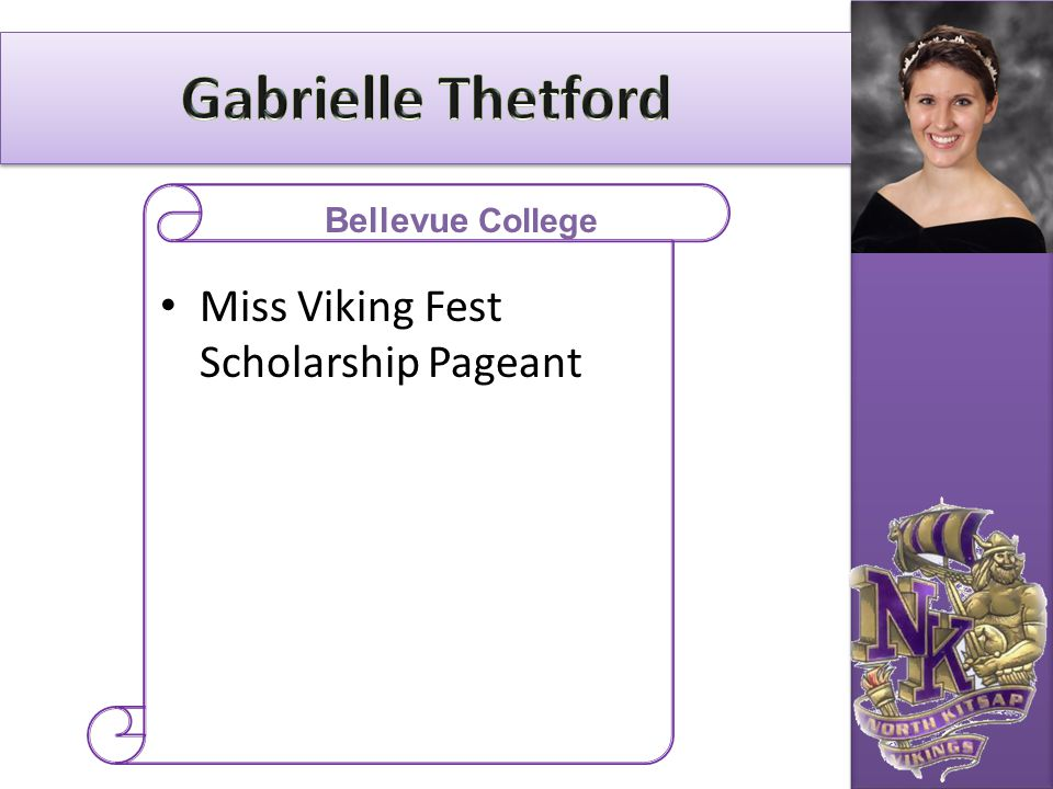 Gabrielle Thetford Miss Viking Fest Scholarship Pageant