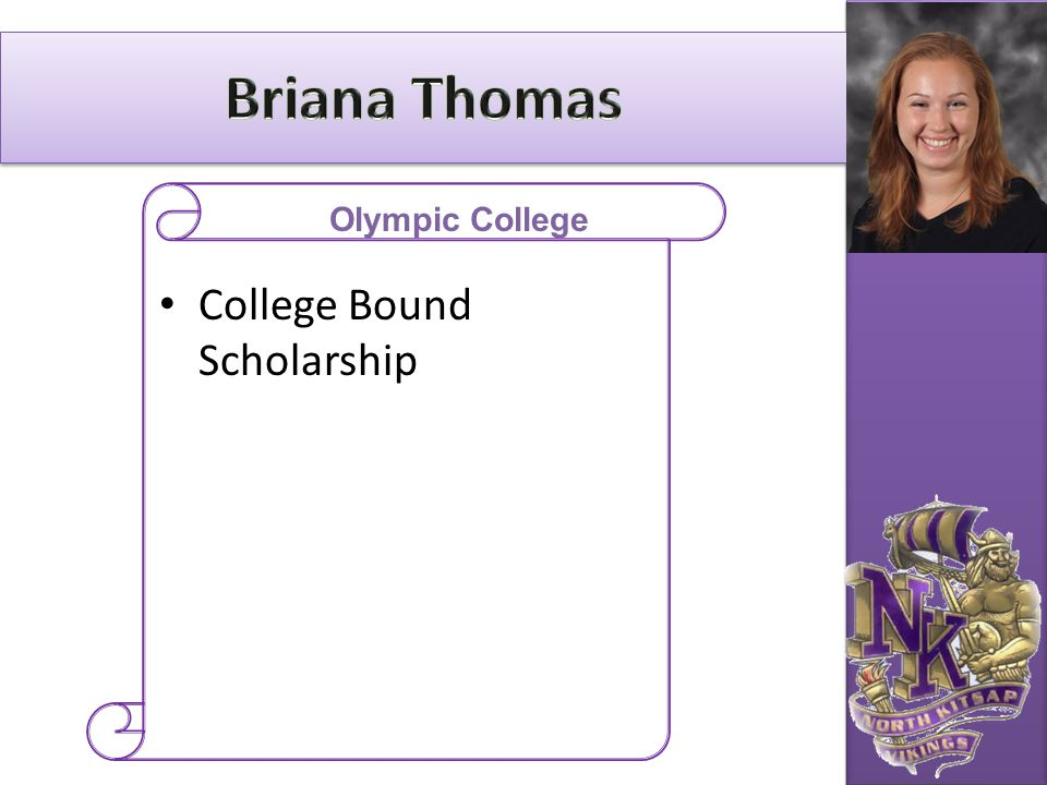 Briana Thomas Olympic College College Bound Scholarship