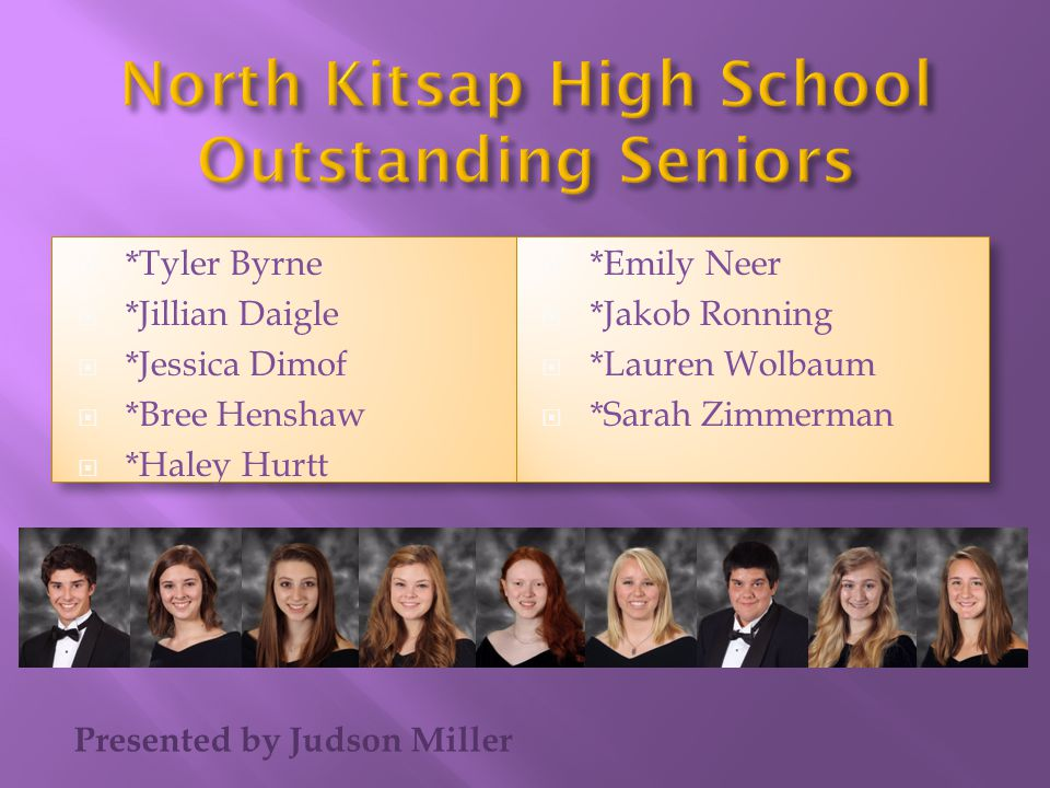 North Kitsap High School Outstanding Seniors
