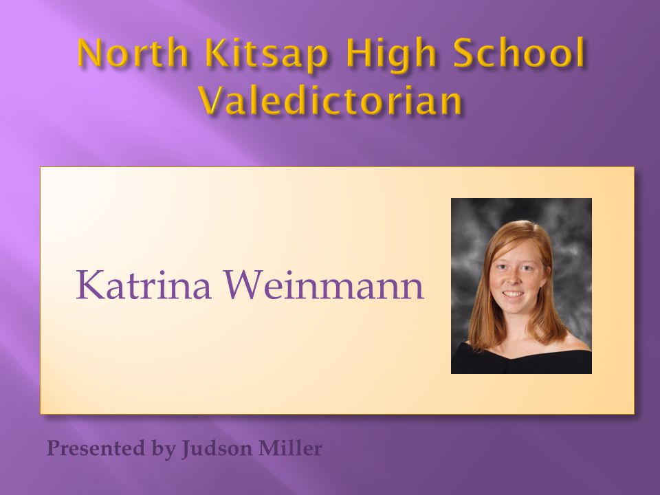 North Kitsap High School Valedictorian