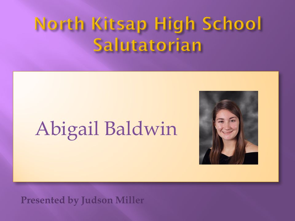 North Kitsap High School Salutatorian