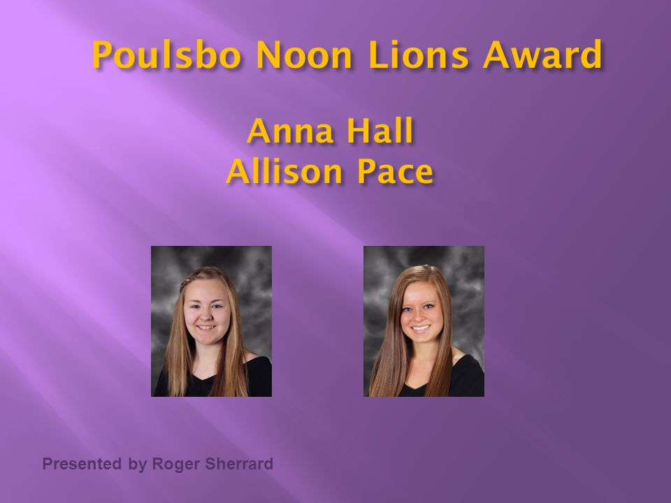 Poulsbo Noon Lions Award