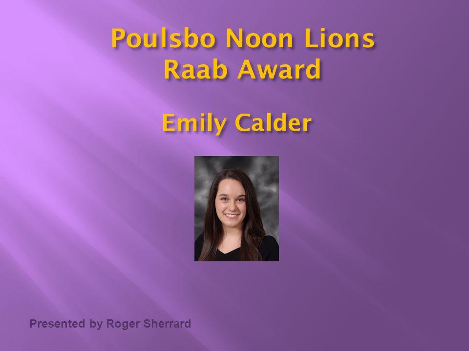 Poulsbo Noon Lions Raab Award