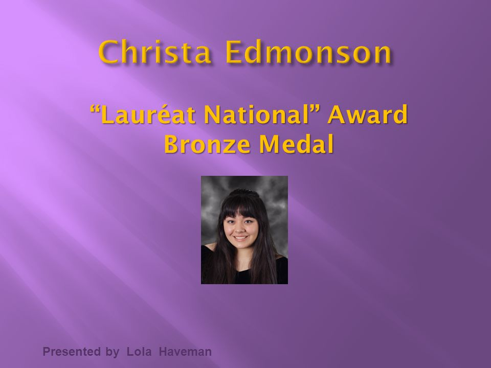 Lauréat National Award