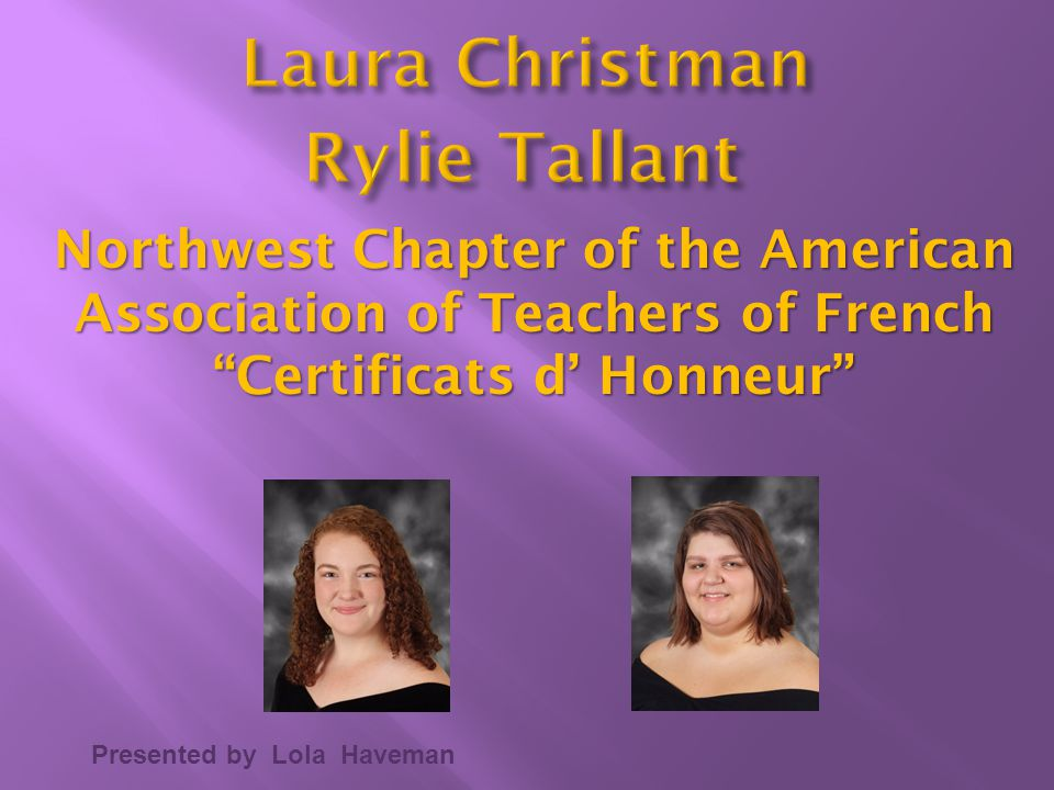Rylie Tallant Laura Christman