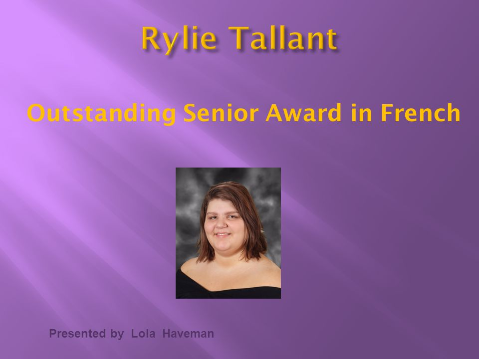 Outstanding Senior Award in French