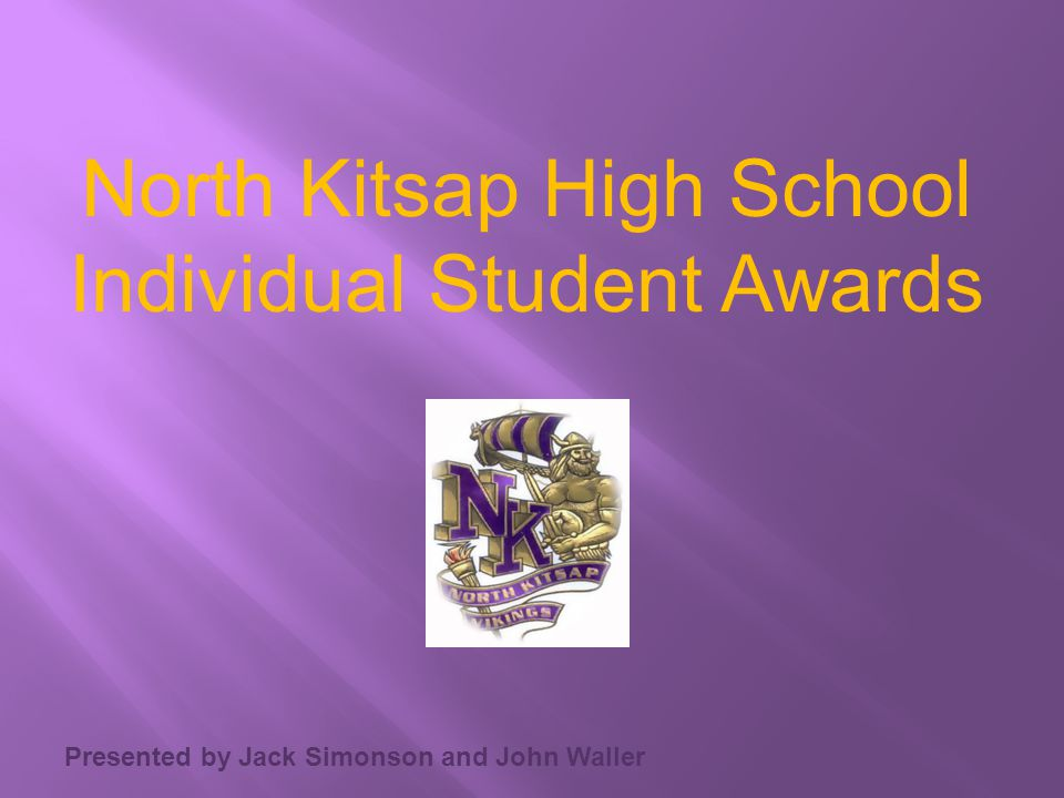 North Kitsap High School Individual Student Awards