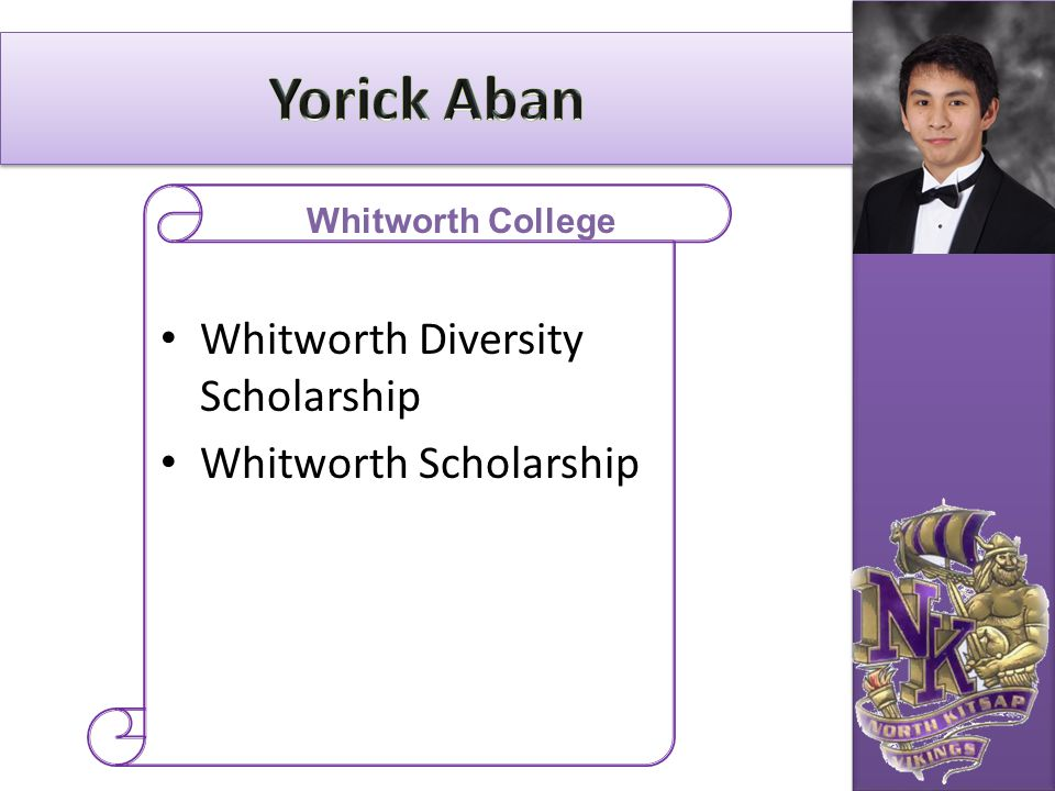 Yorick Aban Whitworth Diversity Scholarship Whitworth Scholarship