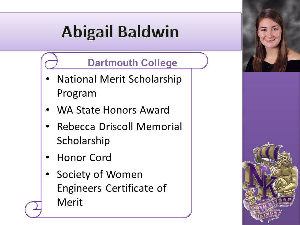 Abigail Baldwin National Merit Scholarship Program