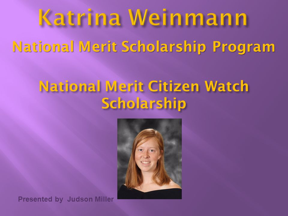 National Merit Citizen Watch Scholarship