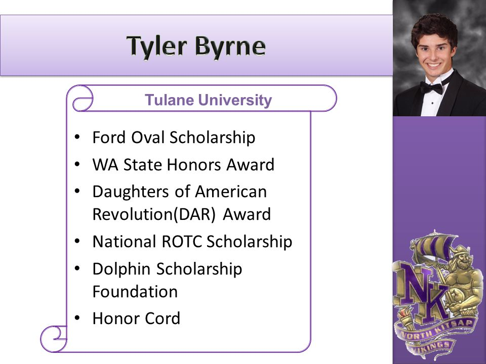 Tyler Byrne Ford Oval Scholarship WA State Honors Award