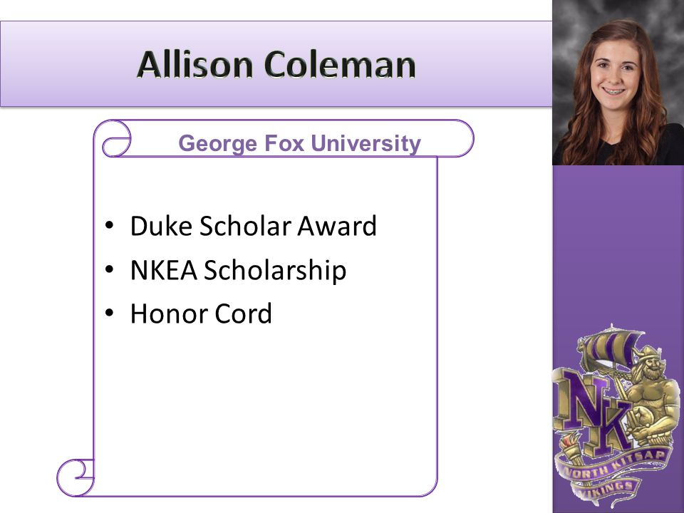 Allison Coleman Duke Scholar Award NKEA Scholarship Honor Cord